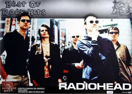 Radiohead Best Of Rock Hits poster Colombian R-HPOBE447189
