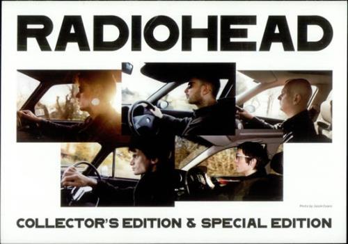Radiohead Collector's Edition & Special Edition Flyers/Handbill handbill Japanese R-HHBCO501411