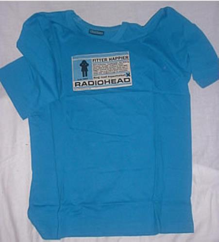 57a02653 Radiohead Fitter Happier t-shirt UK R-HTSFI217340