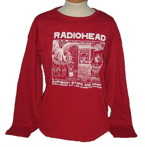 af2782c094c6 RADIOHEAD Gawp Long Sleeved T-Shirt - XL (Deleted UK Officially Licensed  100% cotton red long sleeved t-shirt with a screen printed front image plus  a small ...