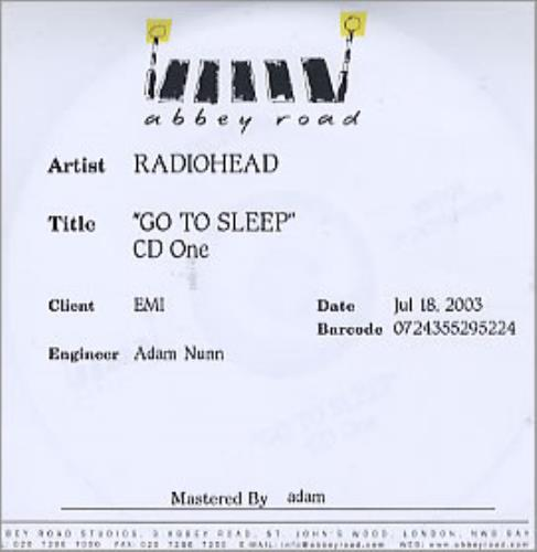 Radiohead Go To Sleep Double CD-R Set CD-R acetate UK R-HCRGO292334
