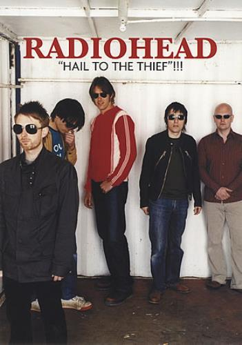 Radiohead Hail To The Thief & Back Catalogue handbill French R-HHBHA402265