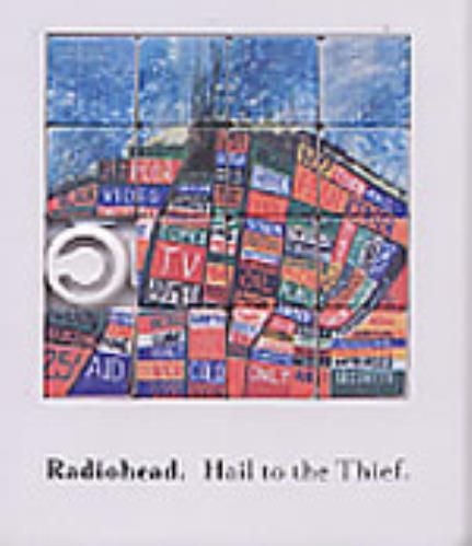 Radiohead Hail To The Thief Promo Tile Puzzle memorabilia UK R-HMMHA262002