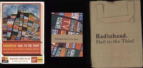 Radiohead Hail To The Thief Special Edition + Postcards & Bag CD album (CDLP) UK R-HCDHA714110