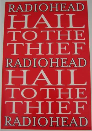 Radiohead Hail To The Thief memorabilia US R-HMMHA372266