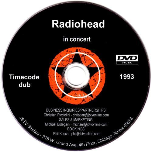 Radiohead In Concert promo DVD-R US R-HDRIN683910