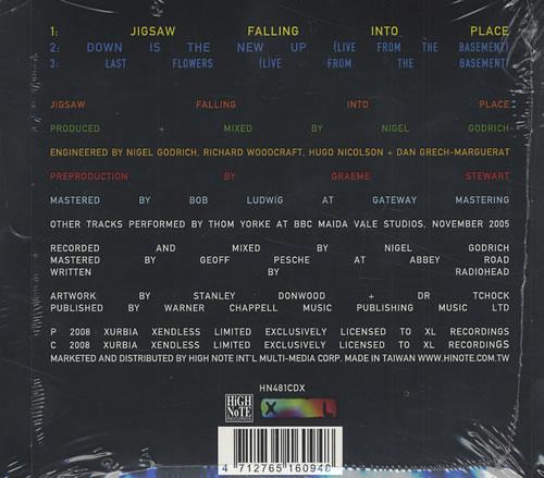 Radiohead In Rainbows Taiwanese 2 CD Album Set (Double CD