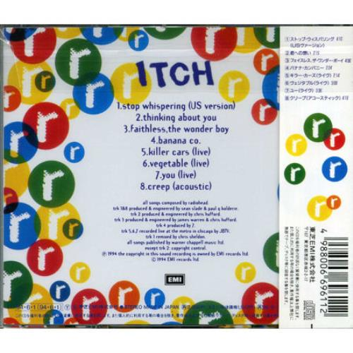 Radiohead Itch Tour Cd CD album (CDLP) Japanese R-HCDIT25968