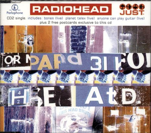 Radiohead Just - reissue 2-CD single set (Double CD single) UK R-H2SJU166329