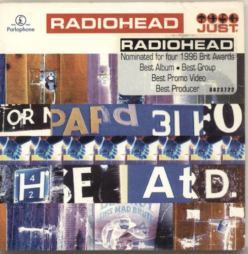 "Radiohead Just CD single (CD5 / 5"") Australian R-HC5JU64477"