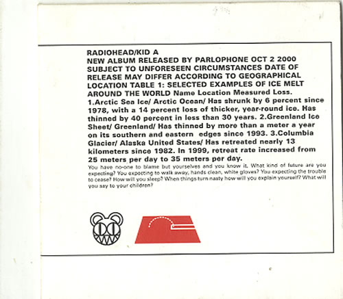 Radiohead Kid A - Stamped Sleeve CD album (CDLP) UK R-HCDKI166684