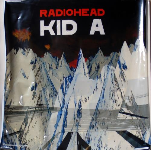Radiohead Kid A - Window Sticker/PVC Display display UK R-HDIKI701681