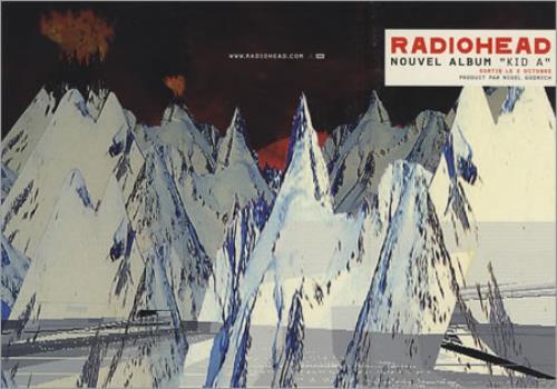 Radiohead Kid A handbill French R-HHBKI215296