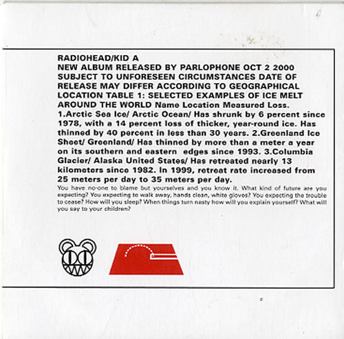 Radiohead Kid A CD album (CDLP) UK R-HCDKI623933