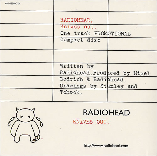 "Radiohead Knives Out CD single (CD5 / 5"") UK R-HC5KN190142"
