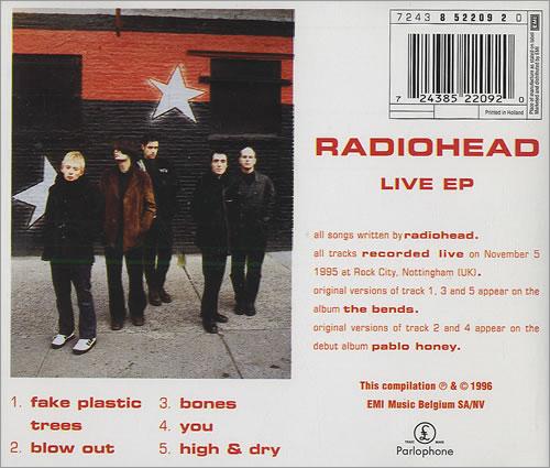 Radiohead Live Ep Belgian Cd Single Cd5 5 Quot 207483