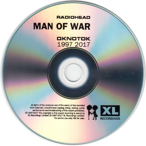 Radiohead Man Of War (OKNOTOK 1997 2017) CD-R acetate UK R-HCRMA680775
