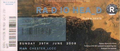 Radiohead Manchester LCCC concert ticket UK R-HTIMA649606