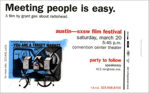 Radiohead Meeting People Is Easy - Austin memorabilia US R-HMMME483526