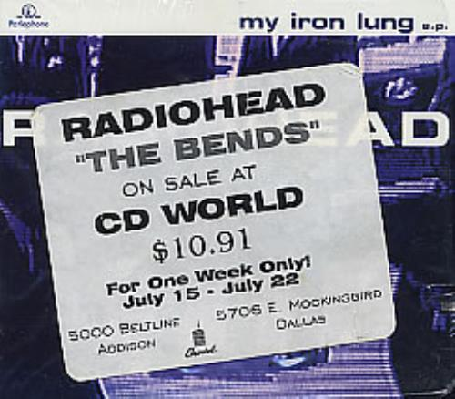 Radiohead My Iron Lung Cd2