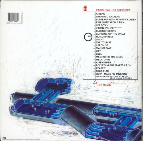 Radiohead OK Computer OKNOTOK 1997 2017 - Blue Vinyl 3-LP vinyl record set (Triple Album) UK R-H3LOK767902