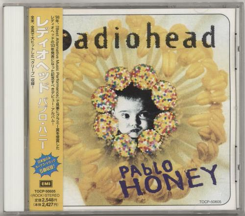 Radiohead Pablo Honey + Obi CD album (CDLP) Japanese R-HCDPA696672