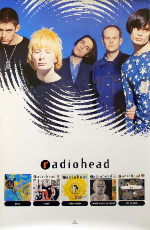 Radiohead Pablo Honey + Singles poster UK R-HPOPA138297