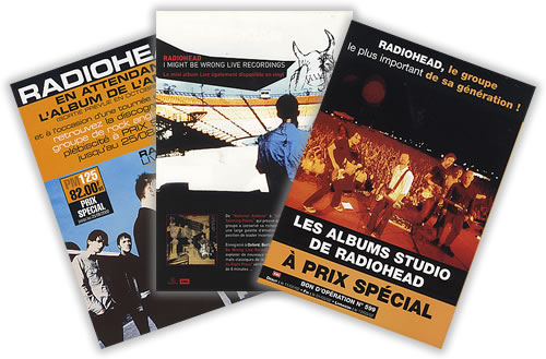 Radiohead Quantity Of Media/Press Presenters handbill French R-HHBQU405770