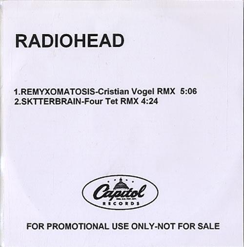 Radiohead Remyxomatosis CD-R acetate US R-HCRRE336475