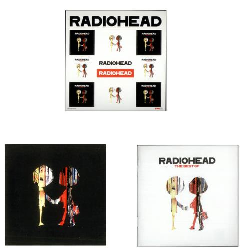 Radiohead The Best Of + 2 Japaneses booklets & Stickers 2 CD album set (Double CD) UK R-H2CTH501640