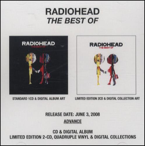Radiohead The Best Of CD-R acetate US R-HCRTH436961