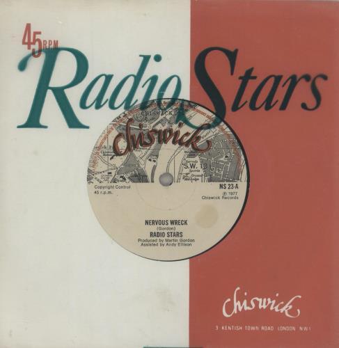 "Radio Stars Nervous Wreck 7"" vinyl single (7 inch record) UK RDS07NE116478"
