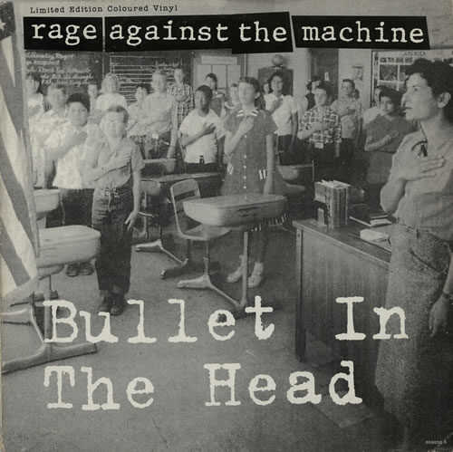 """Rage Against The Machine Bullet In The Head - 'Coloured Vinyl' 12"""" vinyl picture disc 12inch picture disc record UK RAG2PBU17350"""