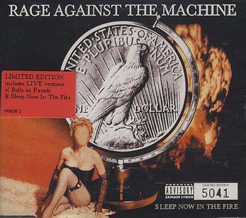 "Rage Against The Machine Sleep Now In The Fire CD single (CD5 / 5"") UK RAGC5SL382881"