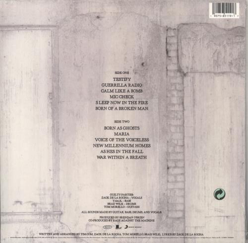 Rage Against The Machine The Battle Of Los Angeles - 180 Gram - Sealed vinyl LP album (LP record) UK RAGLPTH735935