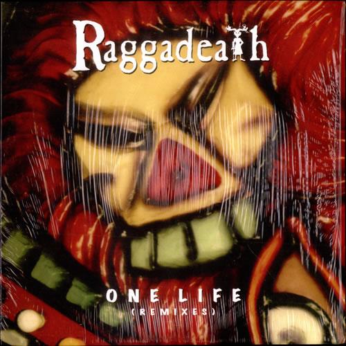 "Raggadeath One Life (Remixes) - Red Vinyl 12"" vinyl single (12 inch record / Maxi-single) Canadian RW912ON506725"