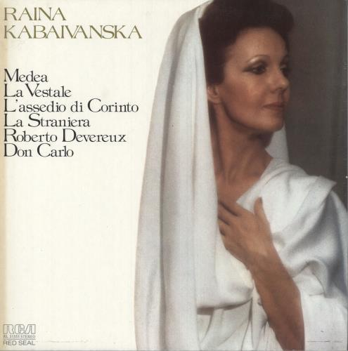Raina Kabaivanska Raina Kabaivanska vinyl LP album (LP record) Italian 1DNLPRA747034