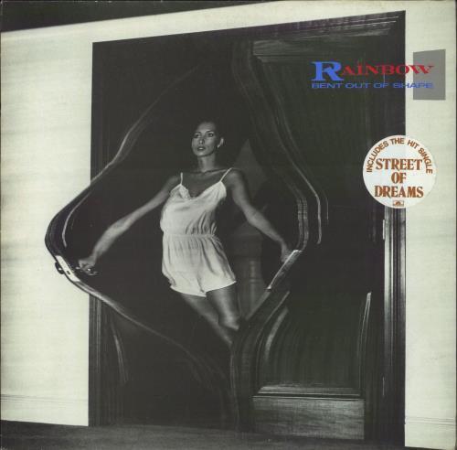 Rainbow Bent Out Of Shape - Stickered Sleeve vinyl LP album (LP record) UK RBOLPBE732641