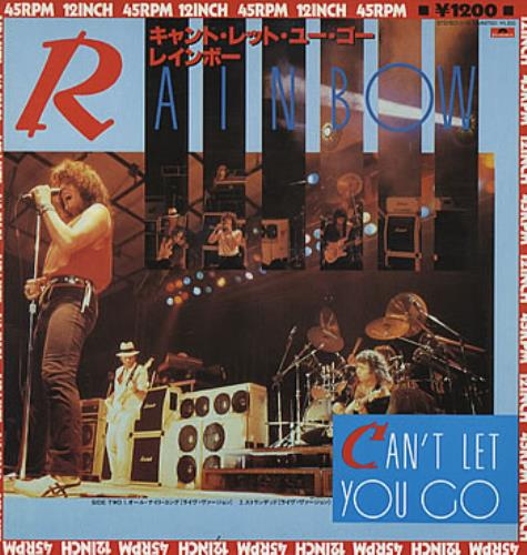 """Rainbow Can't Let You Go 12"""" vinyl single (12 inch record / Maxi-single) Japanese RBO12CA322990"""