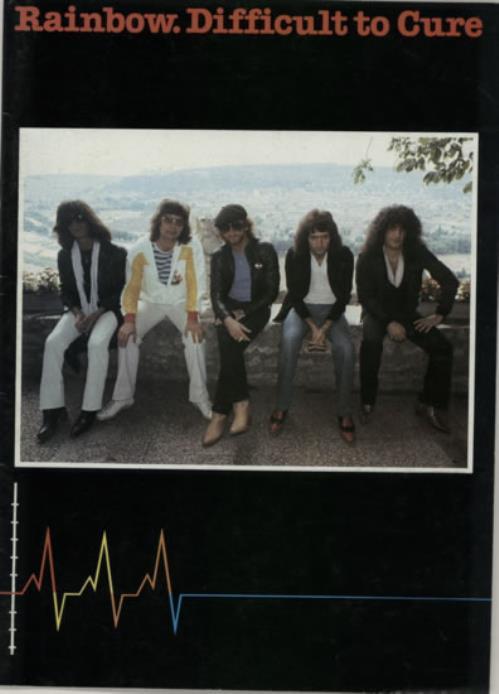 Rainbow Difficult To Cure + Merchandise insert tour programme UK RBOTRDI591083