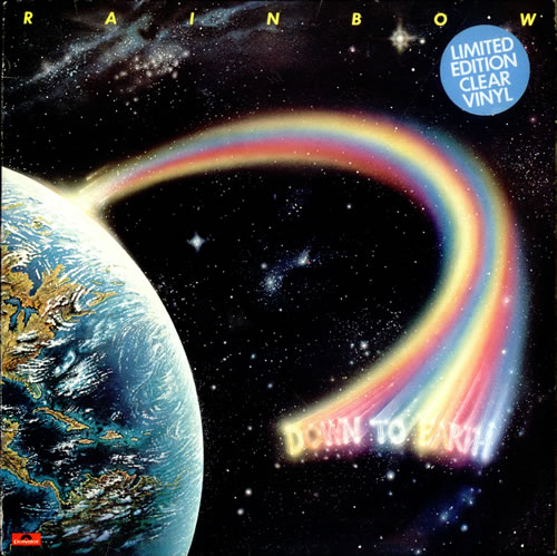 Rainbow Down To Earth - Clear - Stickered - Complete vinyl LP album (LP record) UK RBOLPDO58582