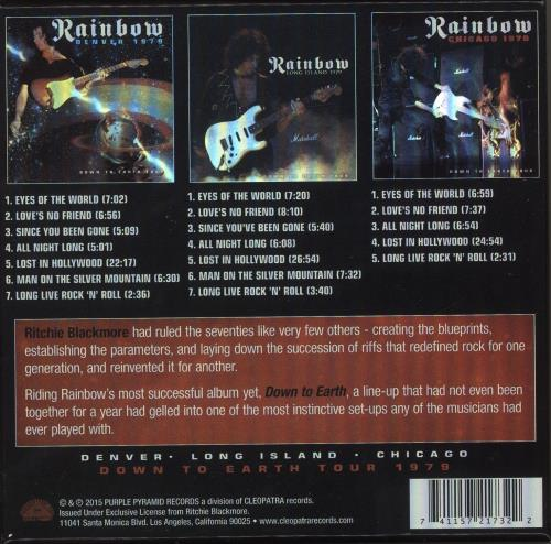 Rainbow Down To Earth Tour CD Album Box Set US RBODXDO739870