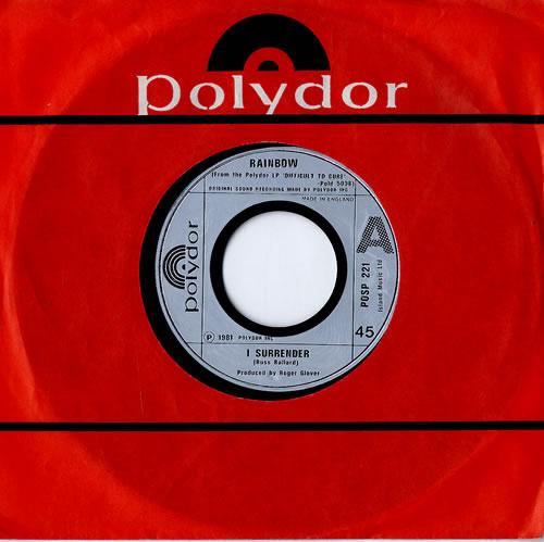 "Rainbow I Surrender - Jukebox 7"" vinyl single (7 inch record) UK RBO07IS559764"