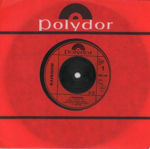 """Rainbow I Surrender 7"""" vinyl single (7 inch record) French RBO07IS568389"""