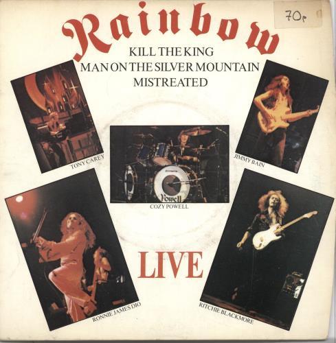 "Rainbow Live EP  - Picture Sleeve 7"" vinyl single (7 inch record) UK RBO07LI549968"