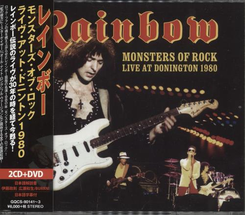 Rainbow Monsters Of Rock Live At Donington 1980 3-disc CD/DVD Set Japanese RBO3DMO739841