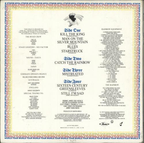 Rainbow On Stage + insert 2-LP vinyl record set (Double Album) Japanese RBO2LON744731