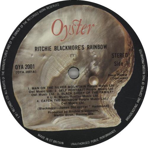 Rainbow Ritchie Blackmore's Rainbow - 1st - EX vinyl LP album (LP record) UK RBOLPRI668979