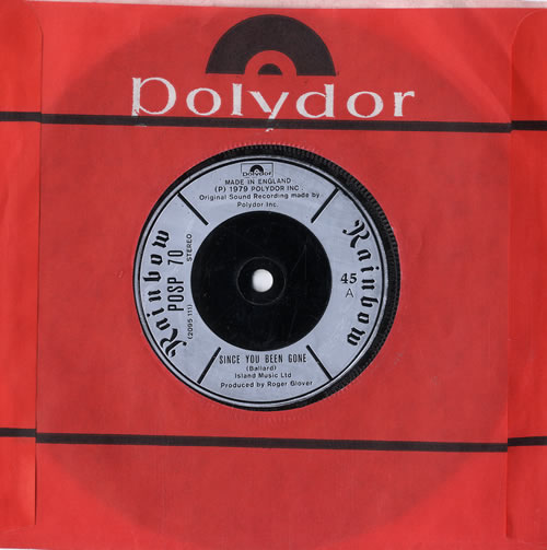 """Rainbow Since You Been Gone 7"""" vinyl single (7 inch record) UK RBO07SI565891"""