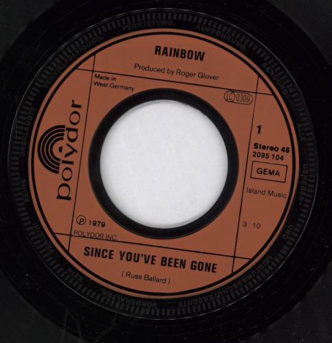 """Rainbow Since You Been Gone 7"""" vinyl single (7 inch record) German RBO07SI768790"""